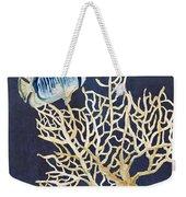 Indigo Ocean - Tan Fan Coral N Angelfish Weekender Tote Bag