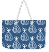 Indigo Pineapple Party Weekender Tote Bag