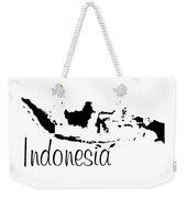 Indonesia In Black Weekender Tote Bag