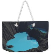 Indonesian Crater Lakes Weekender Tote Bag