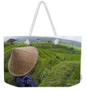 Indonesian Rice Farmer Weekender Tote Bag