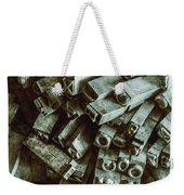 Industrial Letterpress Typeset  Weekender Tote Bag