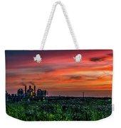 Industrial Sunset Weekender Tote Bag