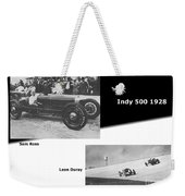 Indy 500 1928 Sam Ross And Leon Duray Weekender Tote Bag