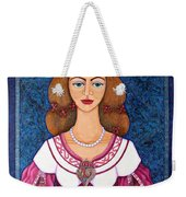 Ines De Castro - The Love Crowned Weekender Tote Bag
