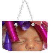 Infant With Ribbon Curls Weekender Tote Bag