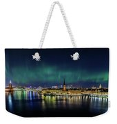 Infinite Aurora Over Stockholm Weekender Tote Bag