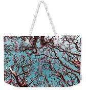 Infrared Frangipani Tree Weekender Tote Bag
