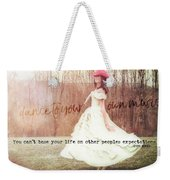 Infrared Quote Weekender Tote Bag