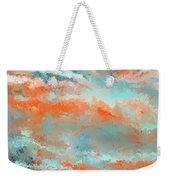 Infused Energy- Turquoise And Orange Art Weekender Tote Bag