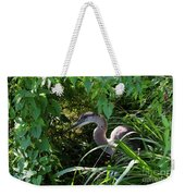 Injure Blue Heron Weekender Tote Bag