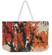 Ink Painting A Tree Gules Persimmon Girl Weekender Tote Bag