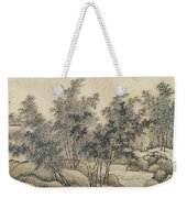 Ink Painting Landscape Bamboo Forest Rivers Weekender Tote Bag