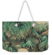 Ink Painting Mountain Thatched Cottage Weekender Tote Bag