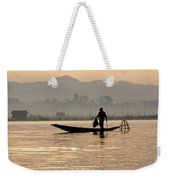 Inle Lake Fisherman Weekender Tote Bag