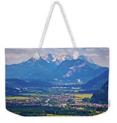 Inn River Valley And Kaiser Mountains View Weekender Tote Bag