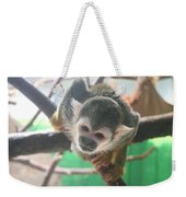 Inquisitive Monkey Weekender Tote Bag