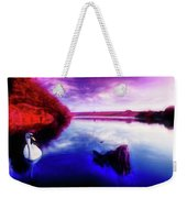 Inquisitive Swan Weekender Tote Bag
