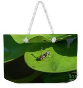 Insect On Lotus Leaf Weekender Tote Bag