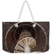 Inside Looking Up - Matagorda Island Lighthouse Weekender Tote Bag