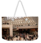 Inside Louvre Museum Pyramid Weekender Tote Bag by Mark Czerniec