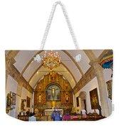 Inside Sanctuary At Carmel Mission-california  Weekender Tote Bag