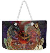 Insight To Speak Of..  Solar Weekender Tote Bag by Joseph Mosley