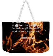 Inspiration And Creativity Weekender Tote Bag