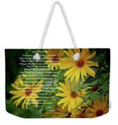 Inspiration For Today Floral Weekender Tote Bag