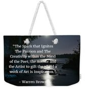 Inspiration In Darkness Weekender Tote Bag