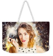 Inspiration Of A Creative Pinup Photographer  Weekender Tote Bag