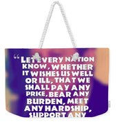 Inspirational Quotes - Motivational - John F. Kennedy 16 Weekender Tote Bag
