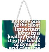 Inspirational Quotes - Motivational - John F. Kennedy 3 Weekender Tote Bag
