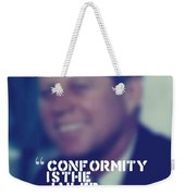 Inspirational Quotes - Motivational - John F. Kennedy 9 Weekender Tote Bag
