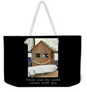 Inspirational- The World Smiles With You Weekender Tote Bag