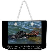 Inspirational-two Heads Weekender Tote Bag