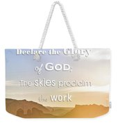 Hot Air Balloon Over Cathedral Rock Weekender Tote Bag