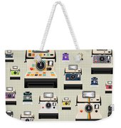 Instant Camera Pattern Weekender Tote Bag by Setsiri Silapasuwanchai