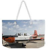 Instructor Pilot And Student In A T-34 Weekender Tote Bag