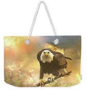 Intense Eagle Stare Weekender Tote Bag