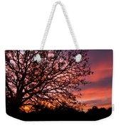 Intense Sunset Tree Silhouette Weekender Tote Bag