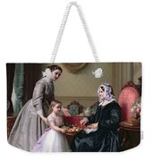Interior At 'the Chestnuts' Wimbledon Grandmother's Birthday Weekender Tote Bag by J L Dyckmans