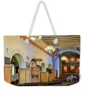 Interior Image Of San Juan Bautista Mission Weekender Tote Bag