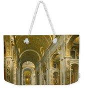 Interior Of St. Peter's - Rome Weekender Tote Bag