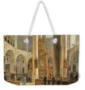 Interior Of The Franciscan Church Salzburg Weekender Tote Bag