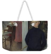 Interior With Women And A Child Weekender Tote Bag