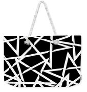 Interlocking White Star Polygon Shape Design Weekender Tote Bag