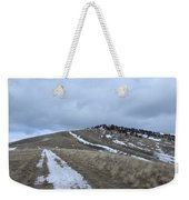 Intermittent Path Weekender Tote Bag