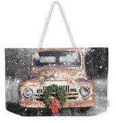 International Christmas Snow Weekender Tote Bag