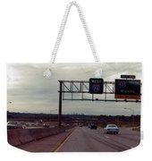 Interstate 70 West At Exit 8b, Interstate 435 North Exit, 1987 Weekender Tote Bag